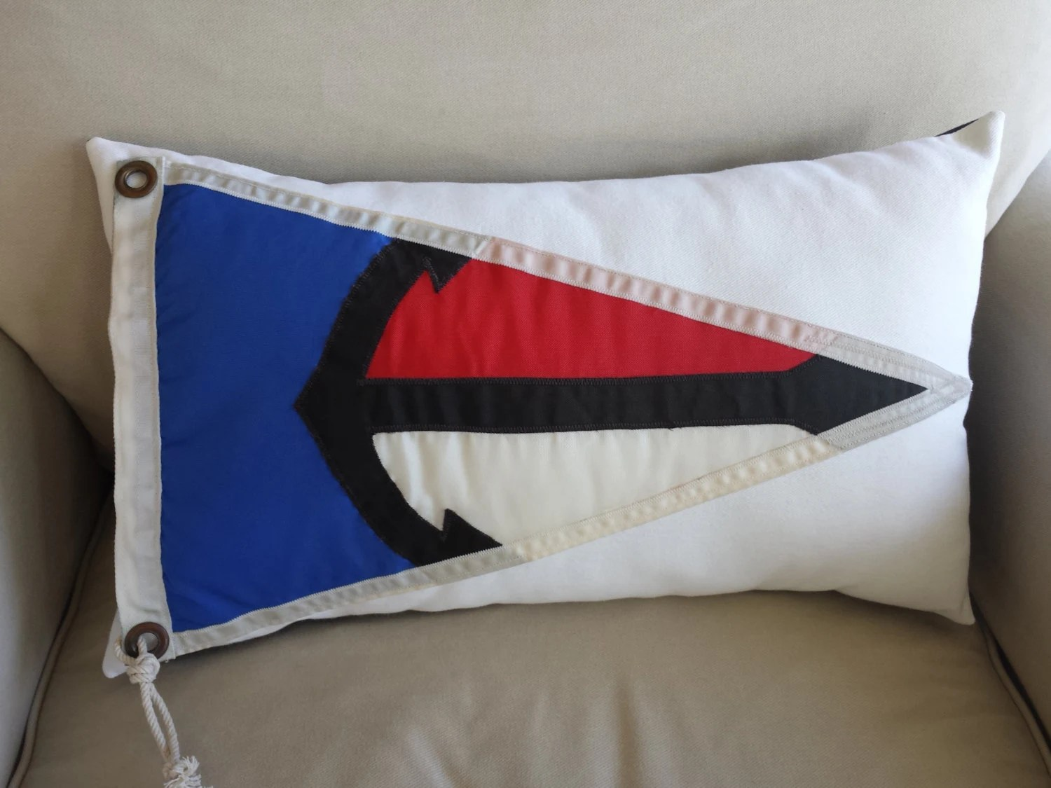 Nautical Pillow Made From Vintage Akuna Bay By