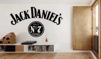 Large Jack Daniels Wall Art Sticker Decal by