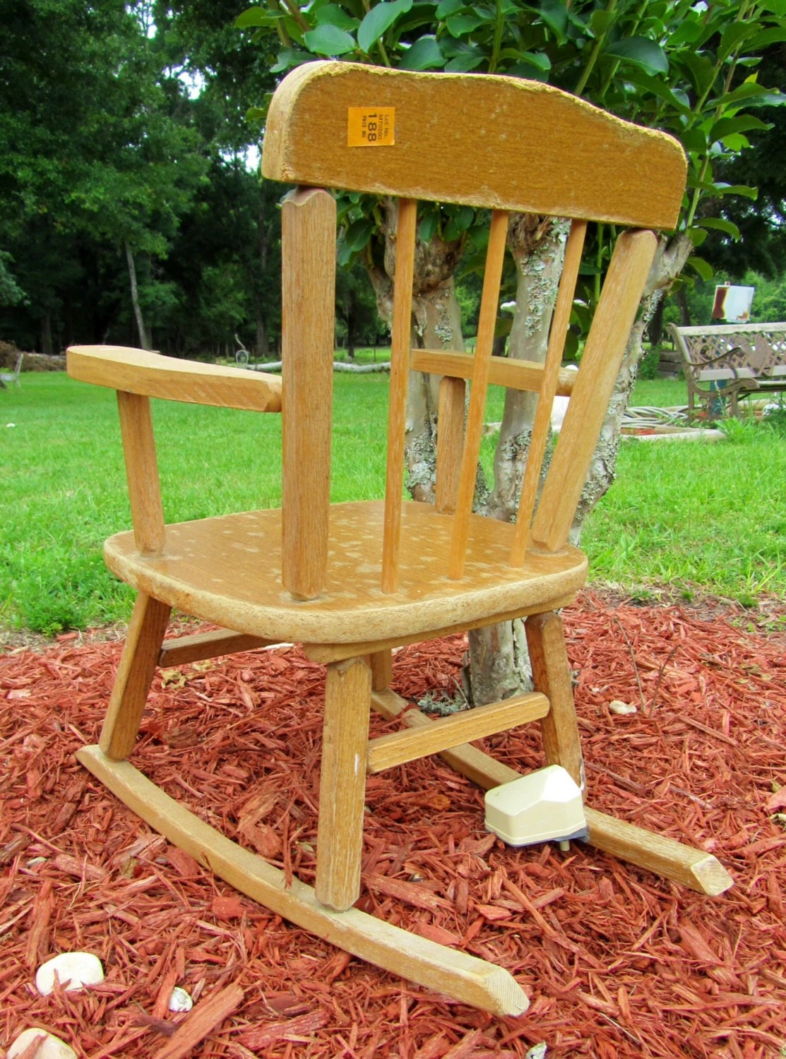 Vintage Wooden Childrens Musical Rocking Chair Cass Toys