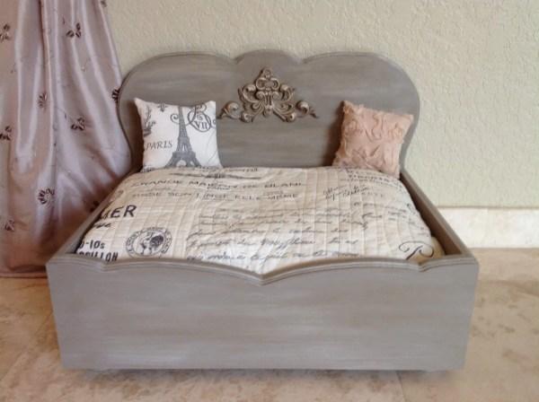 French Provincial Designer Wood Dog Bed Tr Magnifique