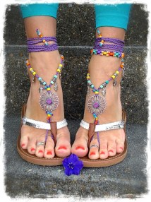 Sunflower Hippie Barefoot Sandals