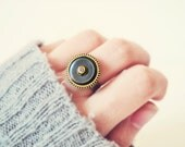 Steampunk Gear Mens Ring Industrial Jewelry Clockwork Hardware Recycled Ring - colortreasures