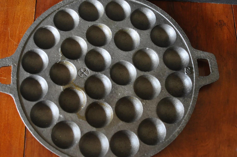 Vintage Cast Iron Swedish Pancake Plett Pan  Danish