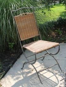 Vintage Wicker Rattan Chair. Mid Century Modern Seating