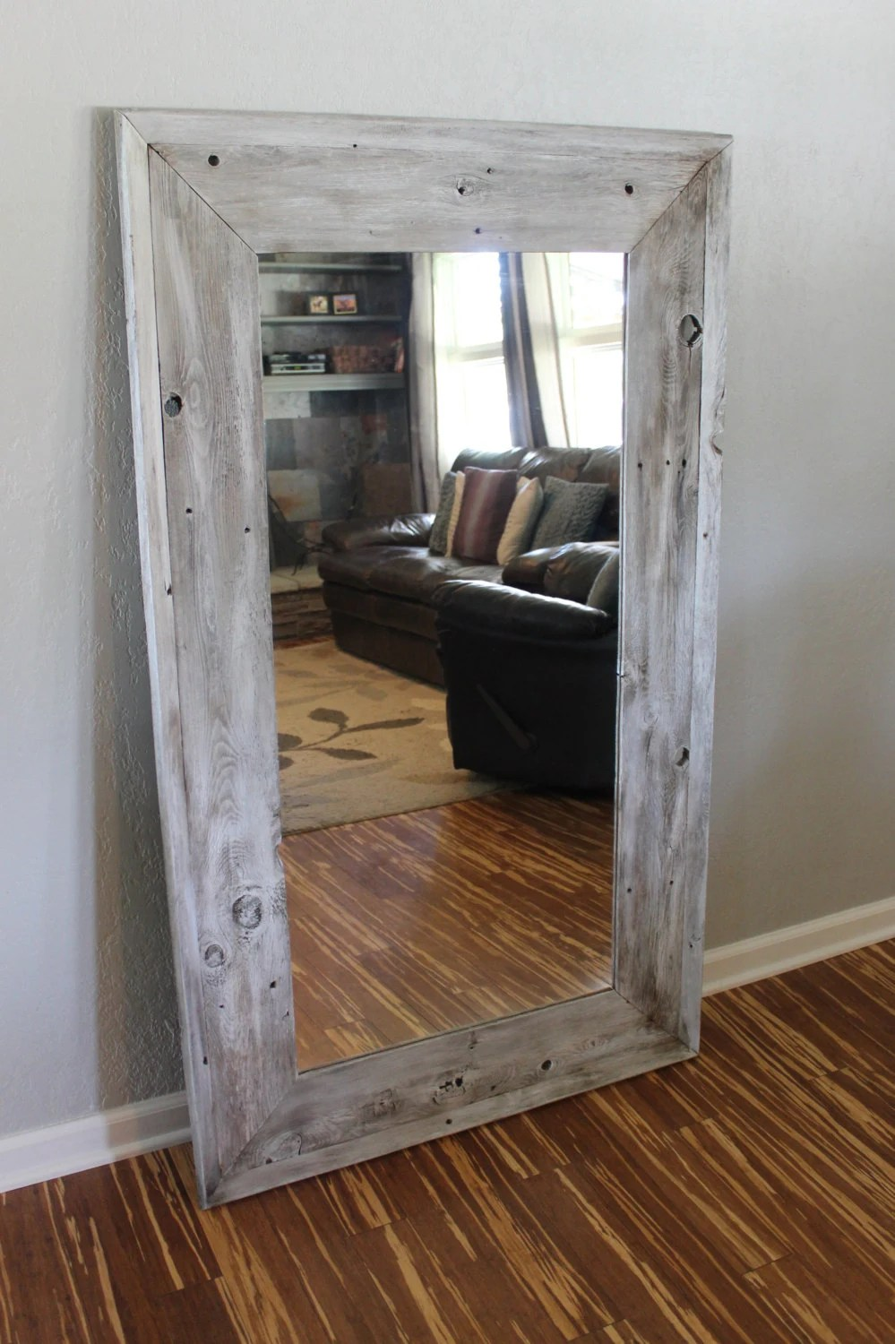 Reclaimed wood Full length Floor mirror with a by CSquaredCustoms