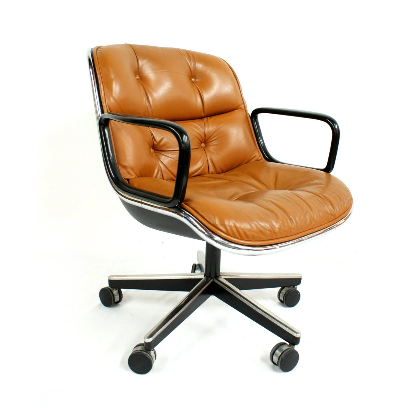Knoll Pollock Chair Knoll Brown Leather Charles Pollock Chair