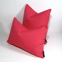 Hot Pink OUTDOOR Pillow Cover, Modern Pink Patio Decor