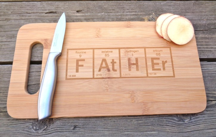 FATHER Cutting Board - Periodic Element Table Cutting Board Engraved Cutting Board Periodic Element Geekery Gift For Dad Fathers Day Gift
