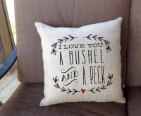 Love You a Bushel and a Peck Valentine Pillows | Valentine ...