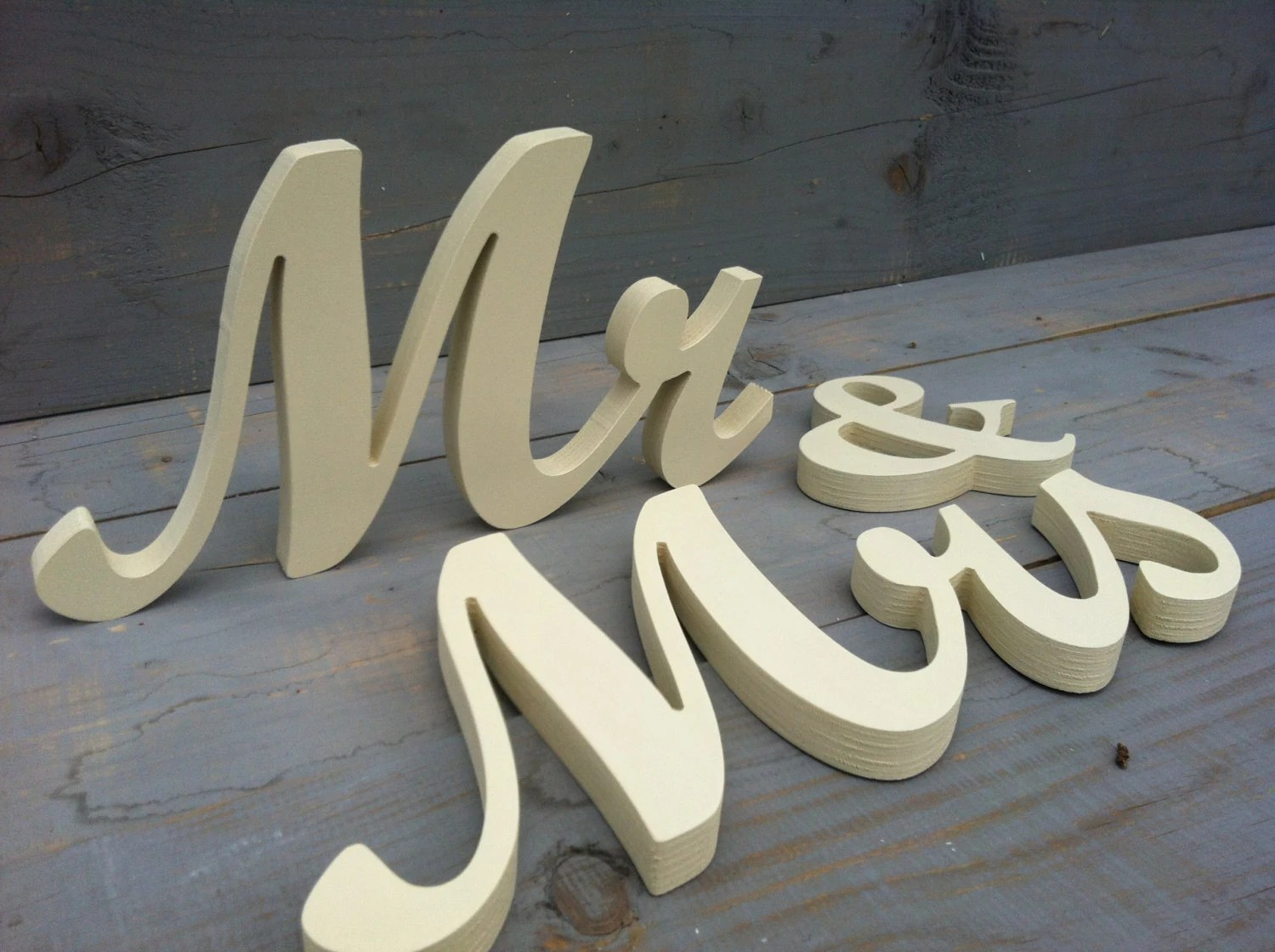 Wooden Mr & Mrs LETTERS 4 5 6 Or 7 Tall Letters DIY By