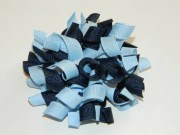 navy & light blue korker hair bow