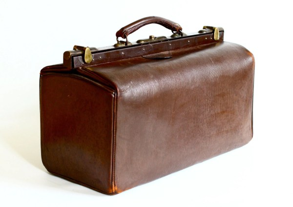 Large Leather Gladstone Bag Doctor