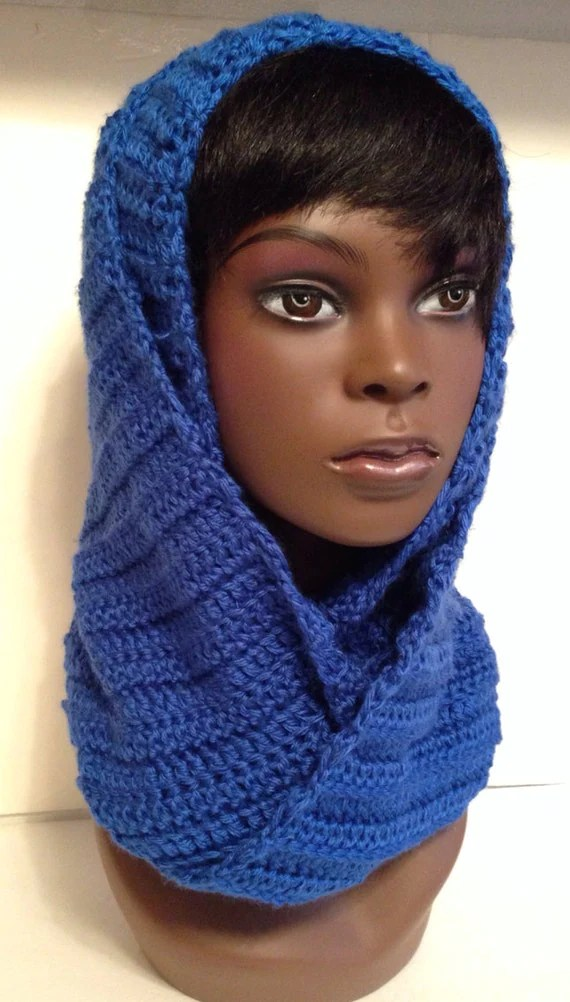Royal Blue Infinity Scarf by HersheeUniquedesigns on Etsy