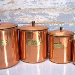Kitchen Containers Metal Chair Copper Canisters 28 Images Vintage