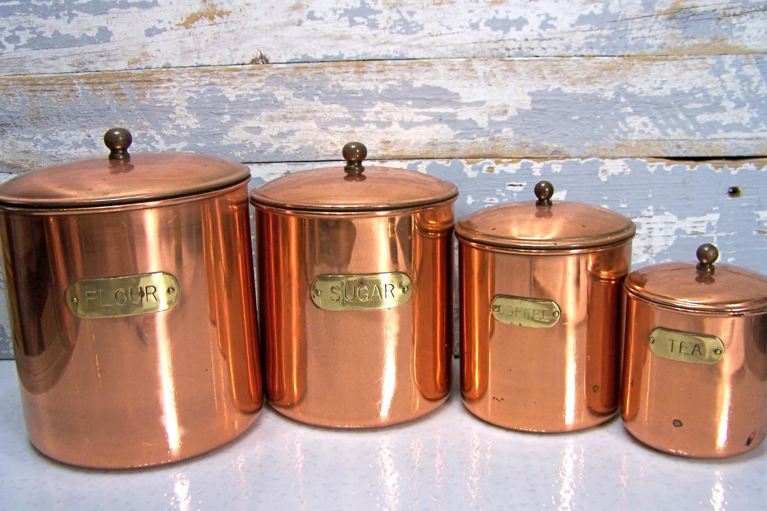 kitchen containers long table copper canisters 28 images vintage
