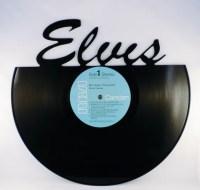 Items similar to Recycled Vinyl Record ELVIS Wall Art on Etsy
