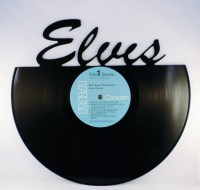 Items similar to Recycled Vinyl Record ELVIS Wall Art on Etsy