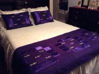 bed scarves and matching pillows crown royal quilt bed ...