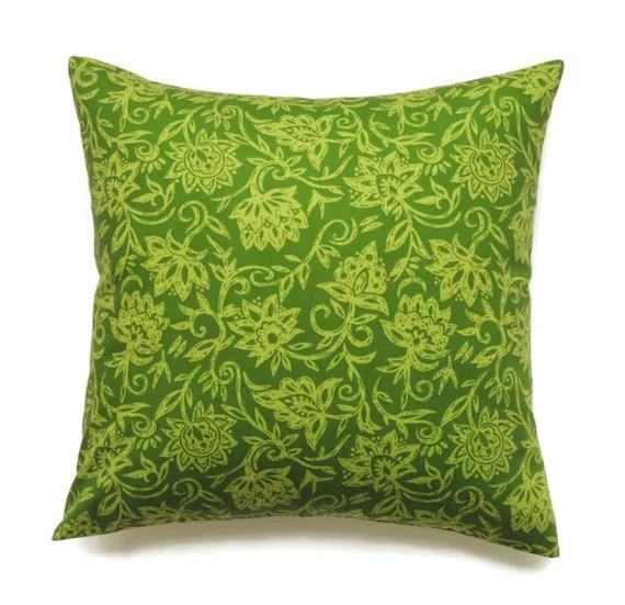 Green Pillow 14x14 Pillow Cover Throw Pillow Decorative