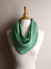 Green Crochet Infinity Scarf Light Green Scarf by