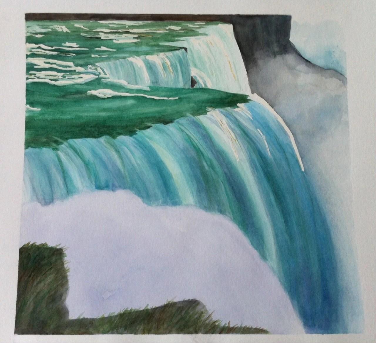 The Magic Of Niagara Falls Watercolor Painting