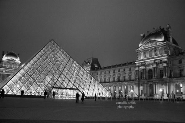Louvre Paris France Black And White