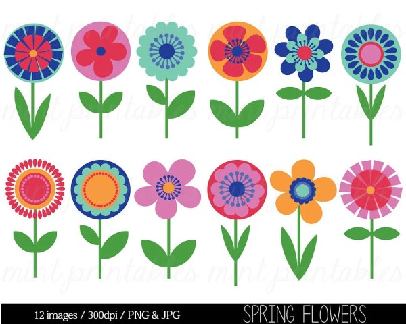 flower clipart clip art bright