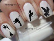 tinkerbell silhouette nail decals
