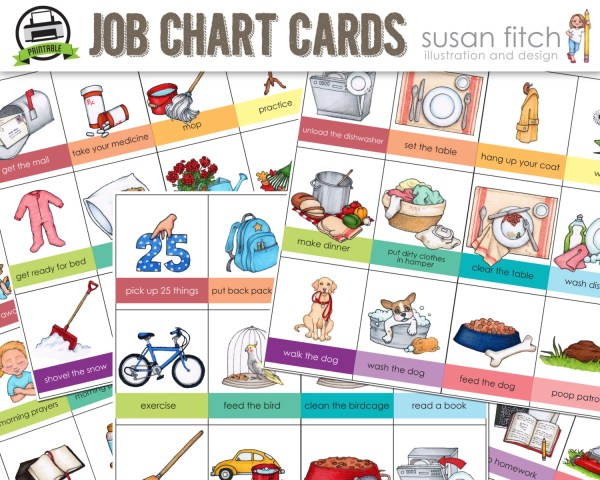 printable job chart chore