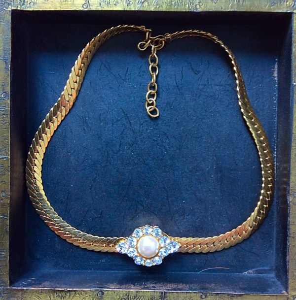 Vintage Monet Gold And Pearl Necklace Liddotreasureshop