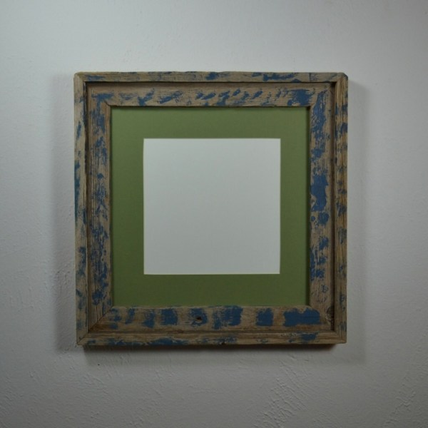 12x12 Distressed Barn Wood Frame With 8 X Sage Green Mat