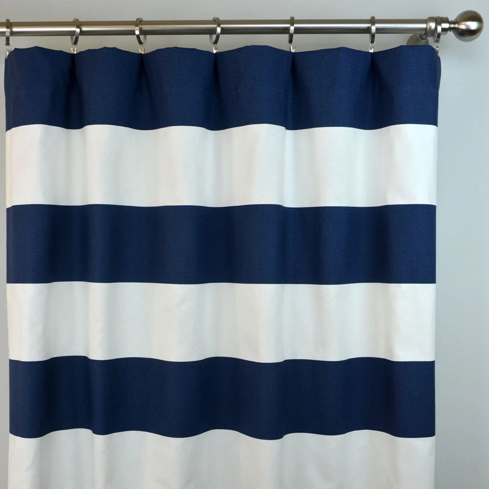 Blue White Curtains Etsy