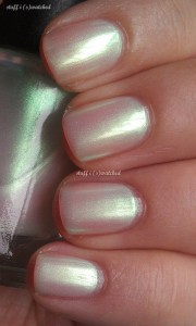 light green nail polish shimmer