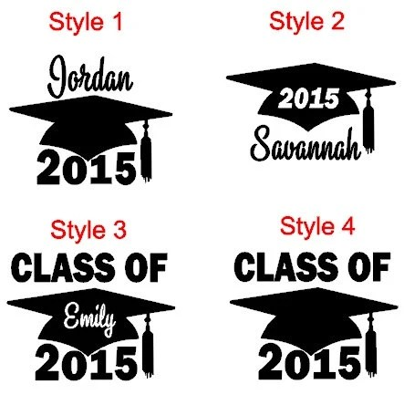 Class of 2015 Car Decal Graduation Car Decal by InitialIt4Me