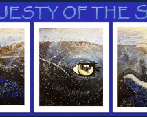 "Ocean Whale Art titled ""Majesty of the Sea"" Prints, Kid's Room Art, Children's Decor, Humpback Whale Art, Triptych Art, Animal Art"