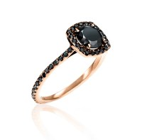 Almost Eternity Rose Gold & Black Diamond Ring