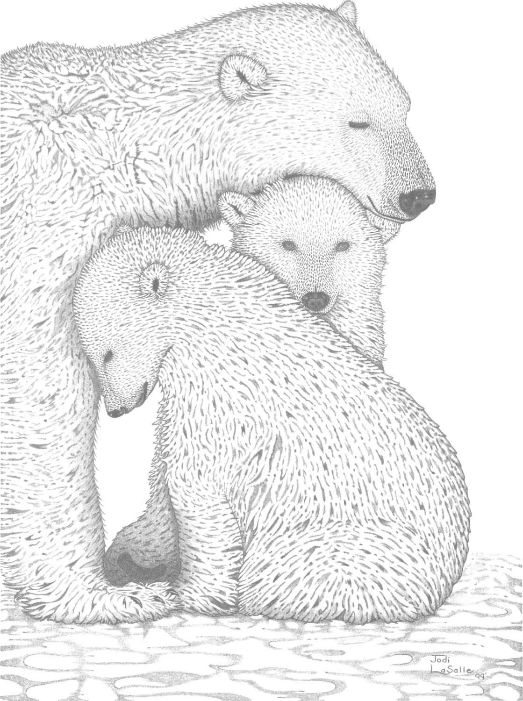 A Tender Moment Polar Bears 18x24 Ltd.Edition by