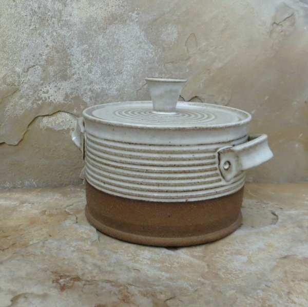 Lidded Casserole Baking Dish Handmade Stoneware Ceramic