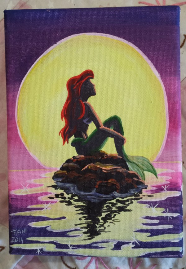 Easy Paintings of Little Mermaid Disney