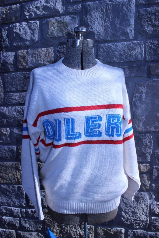 Vintage Houston Oilers Sweater 100 Cotton Mens Medium