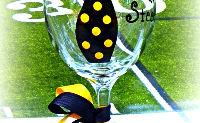 Pittsburgh Steelers Wine Glass Gift Unique By Abodedecorgifts