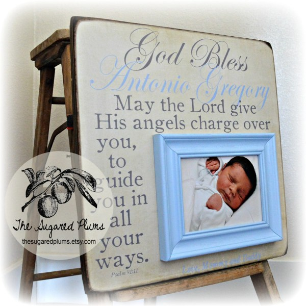Baptism Godchild Frame