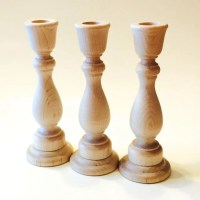 12 Wooden Candle Holder Candlestick Unfinished 12 Candle