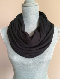 Infinity Scarf with Hidden Pocket Solid Black by ...