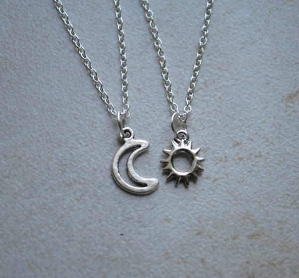 Sun And Moon Friendship Necklace Shopbenji