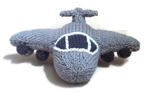 Made to Order: Hand knit C-17 Plane Toy Model