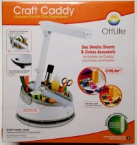 Ottlite Craft Caddy .Sewing Supplies Lamp Commercial