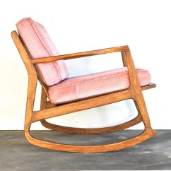Mid Century Modern Rocking Chair Dinner Chairs For Sale Danish Vintage