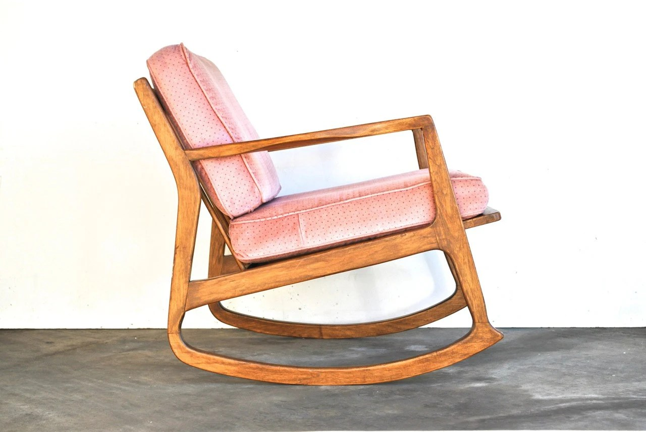 Mid Century Danish Chair Mid Century Modern Rocking Chair Danish Modern Vintage