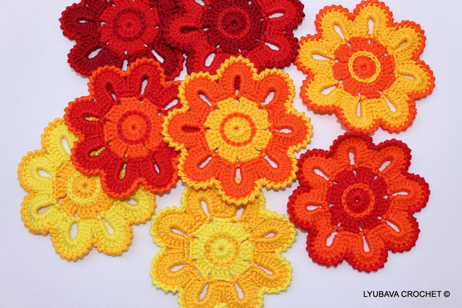 diagram crochet coaster totaline thermostat wiring p374 pattern flower coasters home decorations by